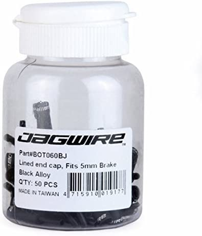 Jagwire 5mm Open Pre-Crimped End Caps Bottle of 200 Chome Plated