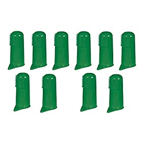 Green Finger Toothbrushes for Dogs and Cats Pet Oral & Dental Care - Bulk Too(10 Toothbrushes)