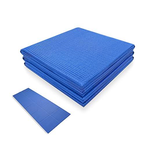 Foldable Yoga Mat for Travel – 68″ x 24″ Non-Slip Folding Fitness & Exercise Mat for Women/Men Eco Friendly Workout Mat