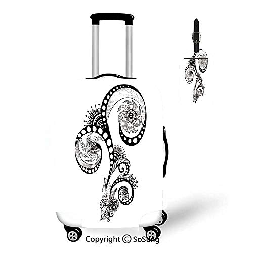 Henna Travel Suitcase Protective Cover,Fit for 18-22