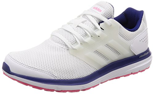Adidas Galaxy 4, Zapatillas de Running para Mujer Blanco (Ftwr White/Ftwr White/Real Purple S18)