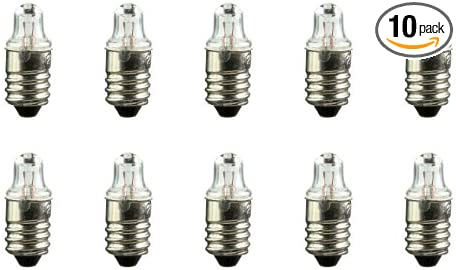 1.2 V E10 Base 0.264 W CEC Industries #112 Bulbs TL-3 shape Box of 10