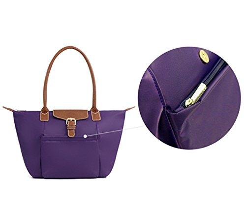 Tibes Bolso de compras simple del bolso de la manera para las mujeres A1 Caqui