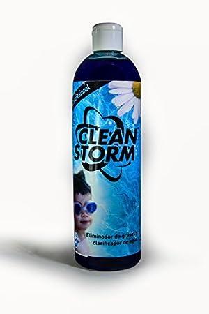 Clean Storm®: Clarificador, Floculante y Eliminador de Grasas-Aceites en Piscinas-SPA. Botella 500 ml: Amazon.es: Jardín