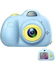 ROTEK Creative Kids Digital Camera, Rechargeable Kids Cameras Screen HD Video Action Camcorder Christmas New Year Birthday Festival Toy Gift for Children Boys Girls