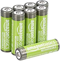 AmazonBasics AA High-Capacity Ni-MH Rechargeable Batteries (2400 mAh), Pre-charged - Pack of 8