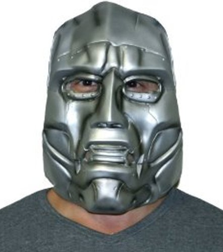 Dr Doom Costume Adults (Disguise Dr. Doom Mask, One Size)