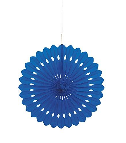 16 Royal Blue Tissue Paper Fan Decoration