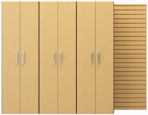 Flow Wall FCS-9612-6M-3M 3 Tall Cabinet Pack, Maple Panel Maple Cabinets Model