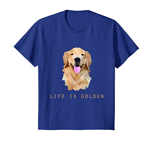 Kids Life is Golden Retriever Dog Gift T-Shirt 12 Royal Blue (Young Life T-shirts)
