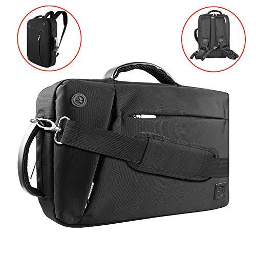 - 15.6 Inch Laptop Briefcase Portfolio Business Bag 3-IN-1 Convertible Backpack Messenger Shoulder Bag 15 inch Computer Backpack for Men and Women