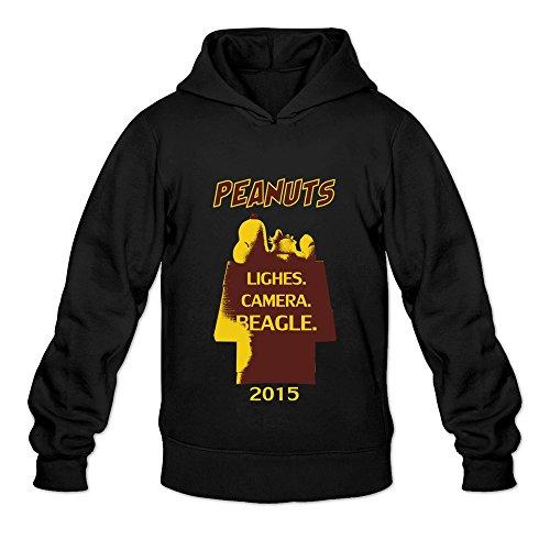Men's The Peanuts Movie Hooded Sweatshirt Size L Black -