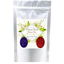 The Best Tea Butterfly Pea Powder with Hibiscus Sabdariffa Roselle Powder Enjoy Color Blue & Red