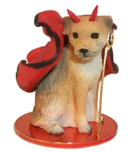 Border Terrier Little Devil Dog Figurine (Dog Figurine Terrier Border)