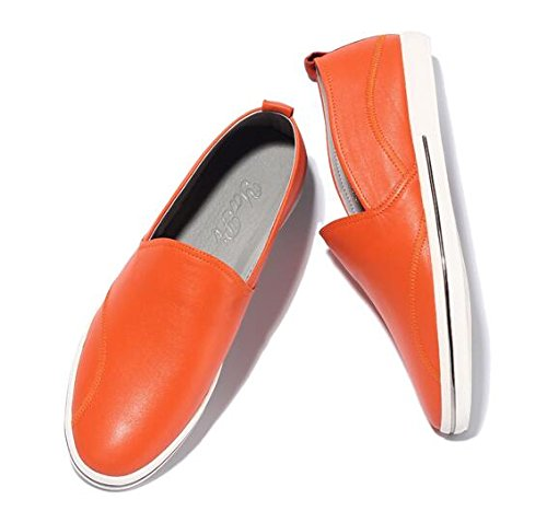HAPPYSHOP(TM) Men's Casual Leather Ventilated Light Moccasin Slip-on Penny Loafers Driving Shoe Orange outlet wide range of NSwFEUeV