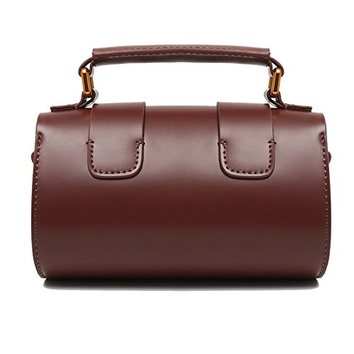 Everyday Square Wine Use Suitable Red Simple Asdflina Retro Lock Bag Messenger Portable Boston For Shoulder Leather Bag xqwZgYqP