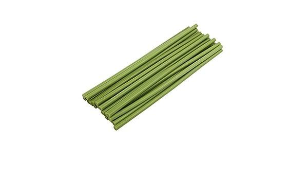 eDealMax 25 piezas de la luz verde de 7 mm Diámetro de soldadura de hierro fundido en caliente barra de pegamento 253 mm Longitud - - Amazon.com