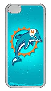 Creative GOOD 5C Case, iPhone 5C Case, Personalized Hard PC Clear Shoockproof Protective Case Cover for New Apple iPhone 5C - Miami Dolphins
