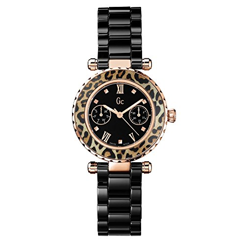 Guess Collection X35016L2S 34mm Stainless Steel Case Black Ceramic Synthetic Sapphire Women's Watch