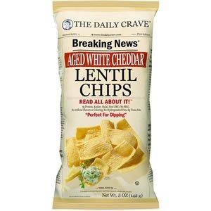Lentil Chips (The Daily Crave Chip Lentil Aged Wht Chdr)