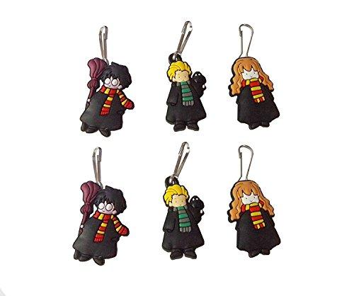 [AVIRGO 6 pcs Zipper Pull Charms for Jacket Backpack Bag Pendant Set # 254 - 2] (Dobby Harry Potter Costumes)