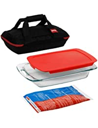 Gain Pyrex Portables 4-Piece Glass Bakeware and Food Storage Set reviews
