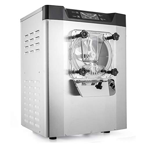 VEVOR Commercial Ice Cream Machine 1400W 20/5.3Gallon Per Hour Hard Serve Ice Cream Maker with LED Display Screen Auto Shut-Off Timer One Flavors Perfect for Restaurants Snack Bar supermarkets ()