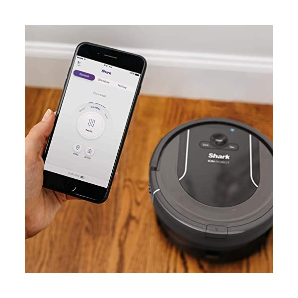 SHARK-ION-Robot-Vacuum-R85-WiFi-Connected-with-Powerful-Suction-XL-Dust-Bin-Self-Cleaning-Brushroll-and-Voice-Control-with-Alexa-or-Google-Assistant-RV850-Renewed