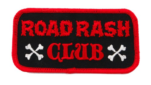 - Road Rash Club Patch Embroidered Iron-On Motorcycle Biker Emblem