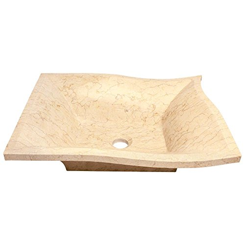 (859 Egyptian Yellow Marble Vessel Sink)