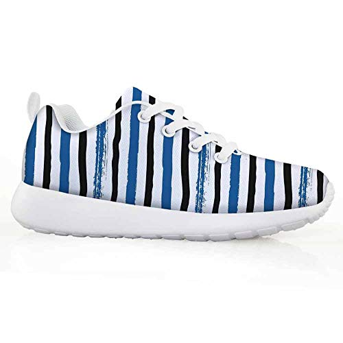 Price comparison product image Abstract Children Running Shoes Vertical Striped Colorful Paintbrush Bands Stripes Hand Drawn Artful Prin