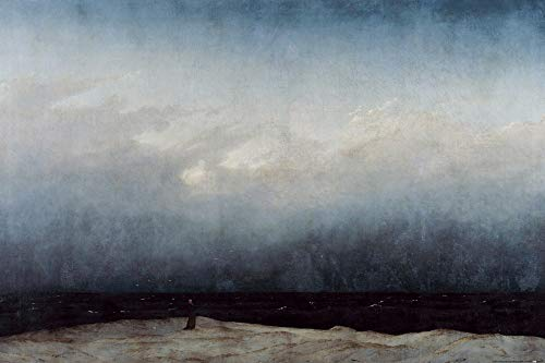 1art1 Caspar David Friedrich XXL Poster - The Monk by The Sea, 1808-1810 (47 x 32 inches) from 1art1