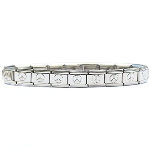 - Peace Sign Italian Charm Starter Bracelet