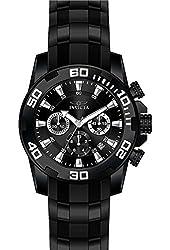 Invicta Men's Pro Diver Black Polyurethane Band Steel Case Quartz Analog Watch 22338
