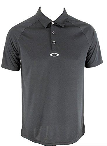 Oakley Bunker Basic Polo Golf Shirt, Jet Black, Size M