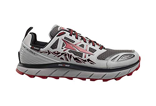 Altra Footwear Men's Lone Peak 3.0 Neoshell Trail Running Shoe,Gray/Red,US 10 D