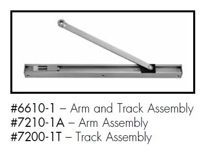 Norton Closers 66101689 6610-1 689 Track Assembly and Arm