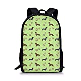School Backpacks Casual Daypack Travel Outdoor Dog Book Bag for Boys and Girls