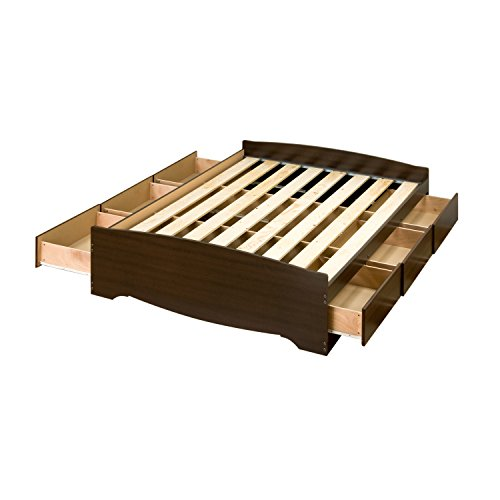 Espresso Full Mate's Platform Storage Bed with 6 Drawers