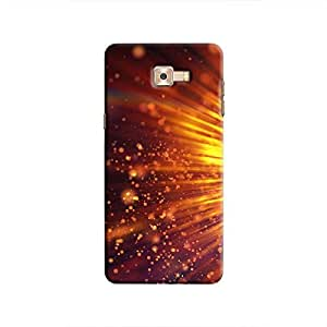 Cover It Up - Gold Exploding Galaxy C9 Pro Hard Case