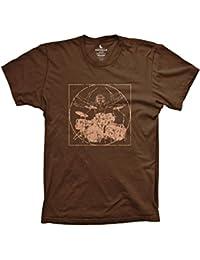 Davinci drummer funny music shirt drumming percussion tshirts Black