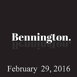 Bennington, February 29, 2016