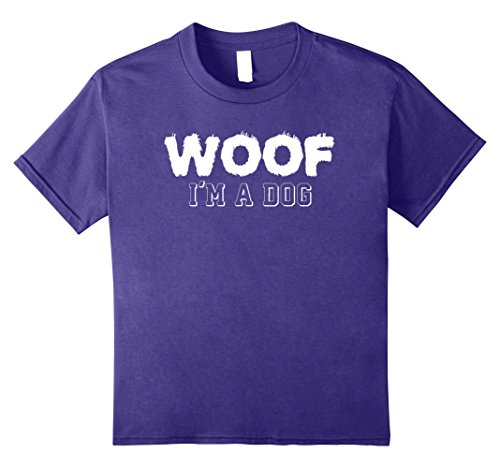 Offensive Halloween Ten Most Costumes (Kids Woof I'm A Dog T Shirt funny easy halloween costume gift 10)