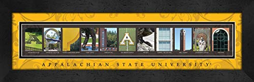 Prints Charming Letter Art Framed Print, Appalachian State University-Appalachian, Bold Color Border