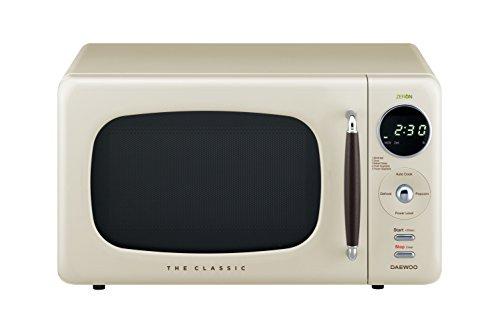 (Daewoo KOR07R3ZEC 0.7 cu. ft 700W Retro Countertop Microwave Oven, Cream)
