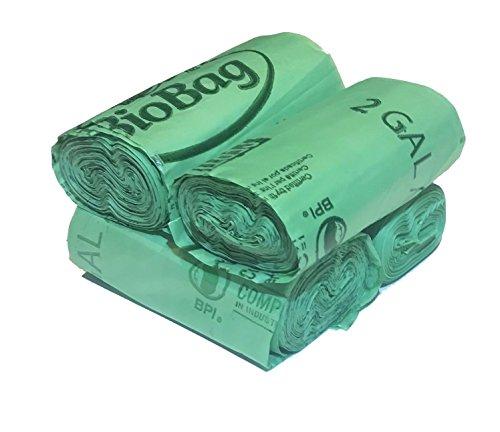 BioBag 2 Gallon Compostable Liner (100 ct)