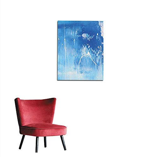 longbuyer Wall Sticker Decals Abstract Blue Background -