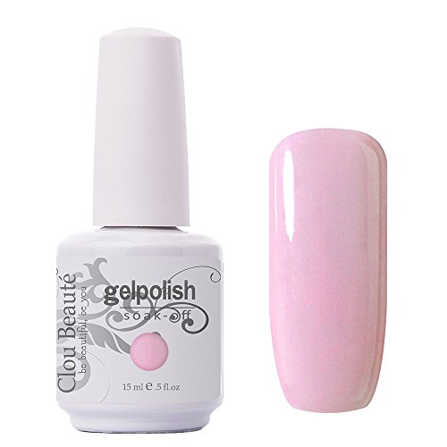 Clou Beaute Gelpolish 15ml Soak Off UV Led Gel Polish Lacquer Nail Art Manicure Varnish Color Light Pink 1532