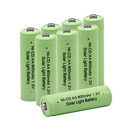 QBLPOWER AA Double A 1.2V 800mAh Ni-CD Rechargeable Battery Cell for Garden Solar Light Lamp(8 -