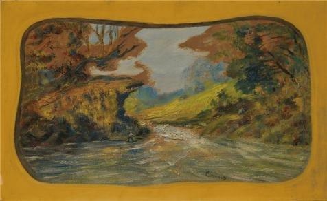 ポリエステルキャンバス、模造品アート装飾キャンバスの油絵` Louis Michel Eilshemius、Fisherman  about 1910–1913`、12x 20インチ/ 30x 50cmは最高のホームオフィスギャラリーアートとホームアートワークとギフトの商品画像